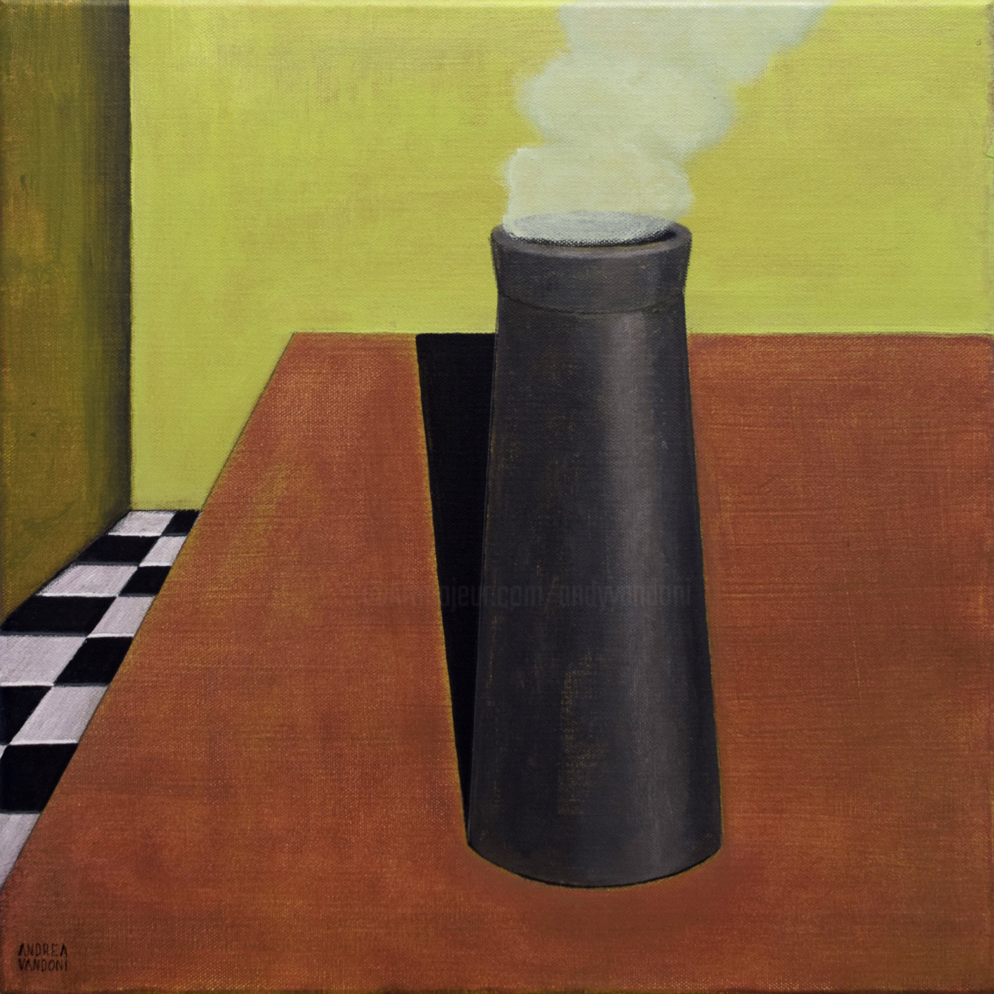 Andrea Vandoni - THE CHIMNEY IS ON THE TABLE